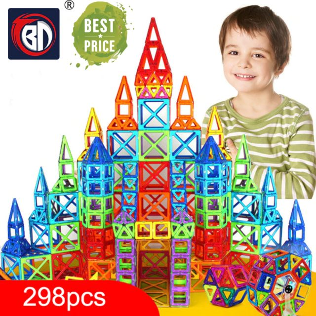 100-298pcs Blocks Magnetic Designer Construction Set Model & Building Toy Plastic Magnetic Blocks Educational Toys